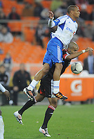 D.C. United forward Maicon Santos (29) gets fouled by Montreal Impact defender Matteo Ferrari (13) D.C. United tied The Montreal Impact 1-1, at RFK Stadium, Wednesday April 18 , 2012.