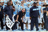 CHAPEL HILL, NC - SEPTEMBER 21: Head coach Mack Brown of the University of North Carolina during a game between Appalachian State University and University of North Carolina at Kenan Memorial Stadium on September 21, 2019 in Chapel Hill, North Carolina.