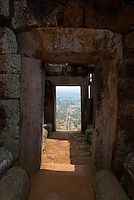 View from Phnom Chisor, Ankgorian temple south of Phnom Penh, Cambodia