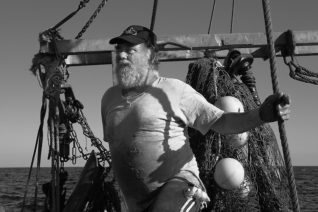 Mick Mahon aboard his 29 foot trawler 'J-Anne'.<br />
