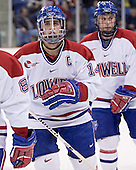 Danny O'Brien (Jeremy Hall) - The Boston College Eagles defeated the University of Massachusetts-Lowell River Hawks 4-3 in overtime on Saturday, January 28, 2006, at the Paul E. Tsongas Arena in Lowell, Massachusetts.