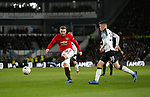 Luke Shaw of Manchester United scores the first goal during the FA Cup match at the Pride Park Stadium, Derby. Picture date: 5th March 2020. Picture credit should read: Darren Staples/Sportimage