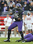 TCU Horned Frogs defensive end Devonte Fields (95) in action during the game between the Iowa State Cyclones and the TCU Horned Frogs  at the Amon G. Carter Stadium in Fort Worth, Texas. Iowa State defeats TCU 37 to 23....