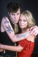 Slim Jim Phantom and Britt Ekland 1982<br /> Photo By Adam Scull/PHOTOlink.net /MediaPunch