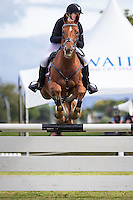 NZL-Lauren Alexander (AA BEDAZZLED) CIC1* SHOWJUMPING: 2015 NZL-Kihikihi International Horse Trial (Sunday 12 April) CREDIT: Libby Law COPYRIGHT: LIBBY LAW PHOTOGRAPHY