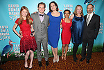 (L-R) Genevieve Angelson, Billy Magnussen, Sigourney Weaver, Shalita Grant, Kristine Nielsen, and David Hyde Pierce attending the Broadway Opening Night Performance after party for  'Vanya and Sonia and Masha and Spike' at the Gotham Hall in New York City on 3/14/2013.