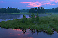 Isabel Lake at dawn<br /> Kenora<br /> Ontario<br /> Canada