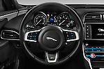 Car pictures of steering wheel view of a 2017 Jaguar XE 4dr-Sdn-20d-R-Sport-RWD 4 Door Sedan Steering Wheel