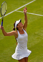 26-06-13, England, London,  AELTC, Wimbledon, Tennis, Wimbledon 2013, Day three, Michelle Larcher De Brito (POR)<br /> <br /> <br /> <br /> Photo: Henk Koster