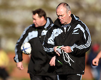 All Blacks coaches Steve Hansen (left) and Graham Henry. All Blacks Training Session at Rugby League Park, Newtown, Wellington on Thursday 13 July 2010. Photo: Dave Lintott/lintottphoto.co.nz