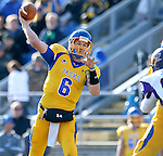 BROOKINGS, SD - OCTOBER 26:  Austin Sumner #6 from South Dakota State University looks for a receiver against Northern Iowa in the second quarter of their game Saturday afternoon at Coughlin Alumni Stadium in Brookings. (Photo by Dave Eggen/Inertia)