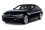 2017 BMW 4-Series 440i-Gran-Coupe 5 Door Hatchback Angular Front stock photos of front three quarter view