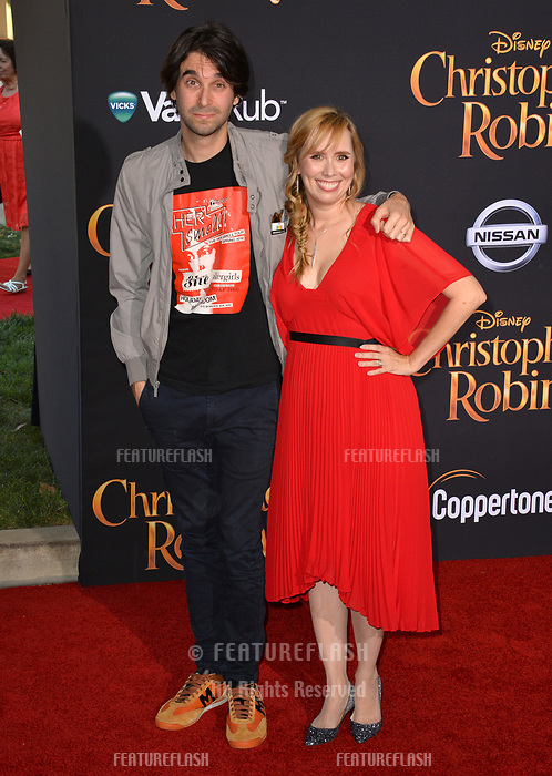 Alex Ross Perry &amp; Allison Schroeder at the world premiere of Disney's &quot;Christopher Robin&quot; at Walt Disney Studios, Burbank, USA 30 July 2018<br /> Picture: Paul Smith/Featureflash/SilverHub 0208 004 5359 sales@silverhubmedia.com