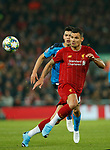 Hirving Lozano of Napoli and Dejan Lovren of Liverpool  during the UEFA Champions League match at Anfield, Liverpool. Picture date: 27th November 2019. Picture credit should read: Andrew Yates/Sportimage