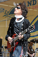 Joe Perry performs on the Land Shark stage during the pregame show at Land Shark stadium on December 6, 2009 in Miami Beach, Florida. Credit: mpi04/MediaPunch