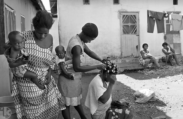 Way of life. Juapong town, the Volta Region