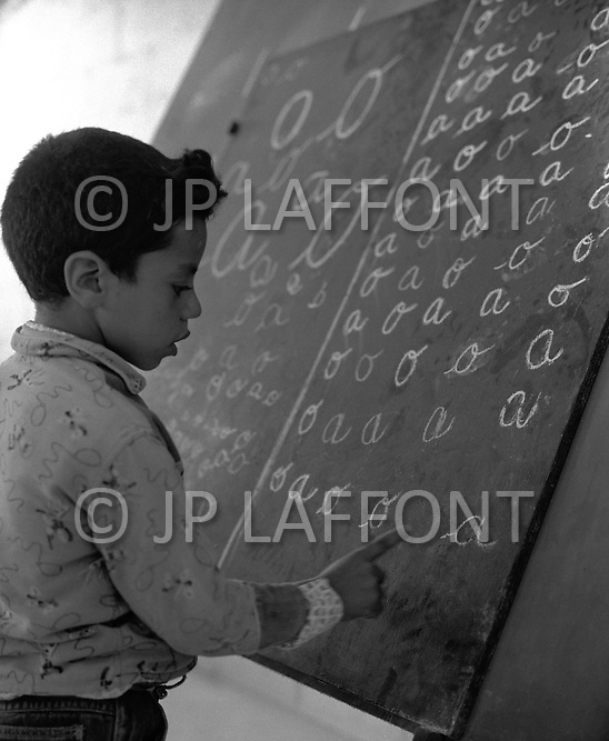 Mascara Area, Algeria, Summer 1961. Typical French Fort for a small harka unit. A school was builted for the village children.