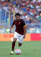 Calcio, Serie A: Roma vs Sassuolo. Roma, stadio Olimpico, 20 settembre 2015.<br /> Roma&rsquo;s Mohamed Salah in action during the Italian Serie A football match between Roma and Sassuolo at Rome's Olympic stadium, 20 September 2015.<br /> UPDATE IMAGES PRESS/Isabella Bonotto