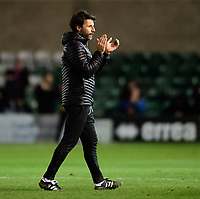 Lincoln City manager Danny Cowley applauds the fans at the final whistle<br /> <br /> Photographer Chris Vaughan/CameraSport<br /> <br /> Emirates FA Cup First Round - Lincoln City v Northampton Town - Saturday 10th November 2018 - Sincil Bank - Lincoln<br />  <br /> World Copyright &copy; 2018 CameraSport. All rights reserved. 43 Linden Ave. Countesthorpe. Leicester. England. LE8 5PG - Tel: +44 (0) 116 277 4147 - admin@camerasport.com - www.camerasport.com