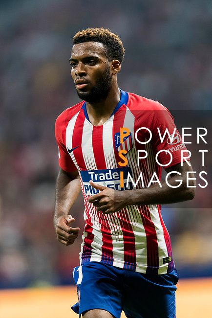 Thomas Lemar of Atletico de Madrid reacts during their International Champions Cup Europe 2018 match between Atletico de Madrid and FC Internazionale at Wanda Metropolitano on 11 August 2018, in Madrid, Spain. Photo by Diego Souto / Power Sport Images