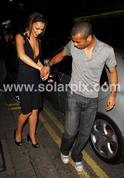 **ALL ROUND PICTURES FROM SOLARPIX.COM**.**WORLDWIDE SYNDICATION RIGHTS**.Girls Aloud and the Sugababes party at The Burlington Club to celebrate Kimberly Walsh's 26th Birthday which was on the 20th November..This pic:Cheryl & Ashley Cole.JOB REF:5397-LDY        DATE:24_11_07.**MUST CREDIT SOLARPIX.COM OR DOUBLE FEE WILL BE CHARGED* *UNDER NO CIRCUMSTANCES IS THIS IMAGE TO BE REPRODUCED FOR ANY ONLINE EDITION WITHOUT PRIOR PERMISSION*