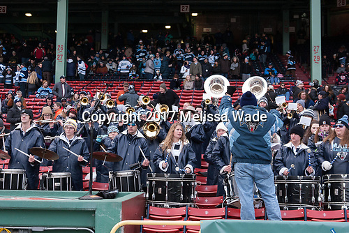 Maine pep band - The University of Maine Black Bears defeated the University of Connecticut Huskies 4-0 at Fenway Park on Saturday, January 14, 2017, in Boston, Massachusetts.