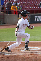 Wisconsin Timber Rattlers third baseman Tucker Neuhaus (10) at bat during a Midwest League game against the Beloit Snappers on May 30th, 2015 at Fox Cities Stadium in Appleton, Wisconsin. Wisconsin defeated Beloit 5-3 in the completion of a game originally started on May 29th before being suspended by rain with the score tied 3-3 in the sixth inning. (Brad Krause/Four Seam Images)