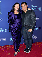 "LOS ANGELES, USA. November 08, 2019: Kristen Anderson-Lopez & Robert Lopez at the world premiere for Disney's ""Frozen 2"" at the Dolby Theatre.<br /> Picture: Paul Smith/Featureflash"