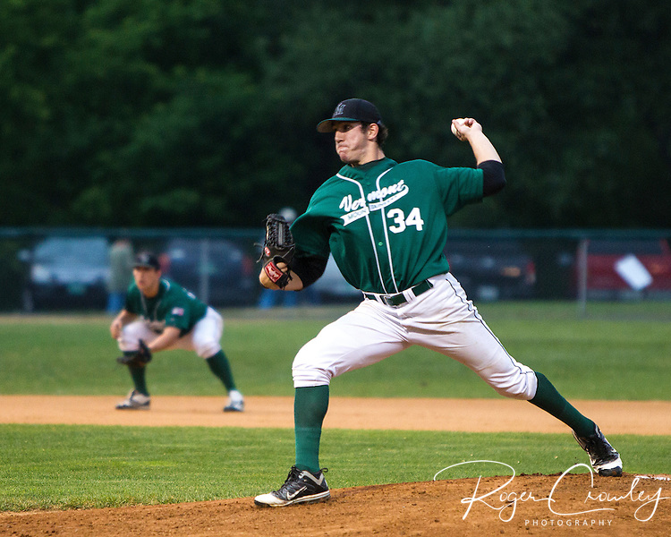 Alex Haines (Greensboro, Pa./Seton Hill) pitched six scoreless innings and struck out a season high 10 batters as Vermont defeated North Adams 2-0 in a weather shortened six in contest in New England Collegiate Baseball League (NECBL) action on Tuesday.