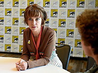 SAN DIEGO COMIC-CON© 2019:  20th Century Fox Television and Hulu's Solar Opposites Cast Members Sean Giambrone (R) and Mary Mack during the SOLAR OPPOSITES press room on Friday, July 19 at the SAN DIEGO COMIC-CON© 2019. CR: Frank Micelotta/20th Century Fox Television