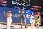 Lukas Postlberger (AUT) Bora-Hansgrohe wins Stage 1 and also wears the Young Riders white jersey of the 100th edition of the Giro d'Italia 2017, running 206km from Alghero to Olbia, Sardinia, Italy. 4th May 2017.<br /> Picture: Eoin Clarke | Cyclefile<br /> <br /> <br /> All photos usage must carry mandatory copyright credit (&copy; Cyclefile | Eoin Clarke)<br /> <br /> All photos usage must carry mandatory copyright credit (&copy; Cyclefile | LaPresse)