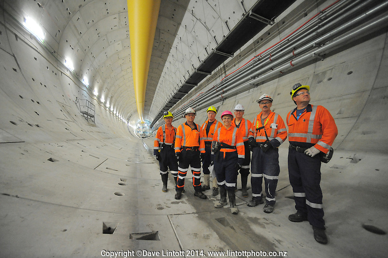 Worksafe High Hazard Unit photoshoot at Waterview Tunnel, Auckland, New Zealand on Wednesday, 19 March 2014. Photo: Dave Lintott / lintottphoto.co.nz