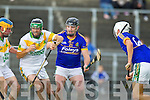 Seanie Murnane Kilmoyley  in action against Enda Galvin Lixnaw in the Semi finals of the Kerry Senior Hurling Championship at Austin Stack Park, Tralee on Saturday.
