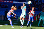 Atletico de Madrid Carmen Menayo and Priscila Borja during match of La Liga Femenina between Atletico de Madrid and FC Barcelona at Vicente Calderon Stadium in Madrid, Spain. December 11, 2016. (ALTERPHOTOS/BorjaB.Hojas)