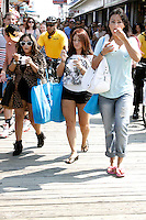 A very pregnant Snooki pictured with Deena and  J WoWW on the boardwalk during filming of the last day before the cast leaves for good on The Jersey Shore Show season six in Seaside Heights, New Jersey on July 4, 2012  © Star Shooter / MediaPunchInc *NORTEPHOTO*<br /> **SOLO*VENTA*EN*MEXICO**<br /> **CREDITO*OBLIGATORIO** <br /> **No*Venta*A*Terceros**<br /> **No*Sale*So*third**<br /> *** No*Se*Permite Hacer Archivo**<br /> **No*Sale*So*third**