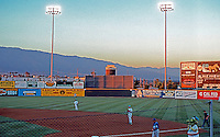 "Ballparks: Rancho Cucamonga Epicenter. Panorama of field 3. The Dinosaur Mascot--""Shaky""--was amusing."
