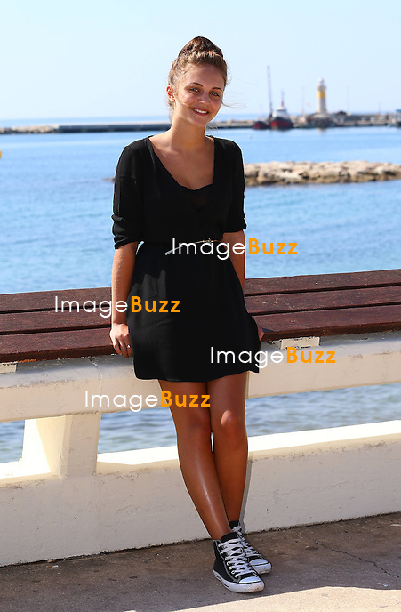 Pauline Burlet ( Belgian actress )  attends the &quot; R&eacute;sistance &quot; photocall at the MipTV in Cannes.<br /> France, Cannes, April 7, 2014.