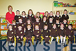Junior Infants at Gaelscoil Mhic Easmainn on Tuesday..Front Row: Hasia Ni? Tho?ibi?n Bhreathnach, Max Breathnach, Chantelle Ni? Bhriain, Pilip O? Briain, Eli? O? To?ibi?n O? Speala?in, Kady Ni? Dhubhlainn, Ebany Ni? Dhubhlainn, Jeaic O? Teimhnea?in, . Second Row: Liam O? Si?ocha?in, Dara O? Se?, Sara Jane Ni? Shuilleabha?in, Feidhlim Siono?id, Lauren Ni? Fhlathartaigh, Joshua O? Mo?ra?in, Ben Mac Ceanna?in, Justin O? Su?illeabha?in. Bck Row: Mu?inteoir Ma?ire Nic Mhathu?na, Ma?ire Nic Mhathu?na, Maitiu? O? Duinneacha O? Ri?orda?in, Aoibheann Stafort, Abi Nic Conmara, Ca?it De Bu?rca, Seoda Ni? Bheaglaoich, Liam Cu?ipe?ir, Ro?isi?n Ni? Mhathu?na, Lu?ca?s Ple?imeann.
