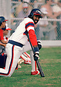 CIRCA 1985: Harold Baines #3 of the Chicago White Sox on deck portrait during a game from his 1985 season with the Chicago White Sox.  Harold Baines played for 22 years with 5 different teams , was a 6-time All-Star. (Photo by: 1985 : SportPics : Harold Baines