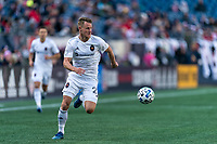 FOXBOROUGH, MA - MARCH 7: Fabian Herbers #21 of Chicago Fire looks to pass during a game between Chicago Fire and New England Revolution at Gillette Stadium on March 7, 2020 in Foxborough, Massachusetts.