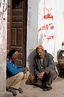 Tripoli, Libya - Libyan Men Talking, Tripoli Medina (Old City).