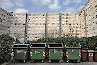 - Milano, quartiere delle case popolari ALER di via Salomone; le &quot;Case bianche&quot; lotto 64<br />
