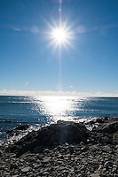 A view of the Atlantic Ocean from the Cliff Walk National Recreation Trail in Newport, Rhode Island, on Sat., Dec. 3, 2016.