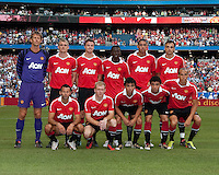 July 16, 2010 The starting eleven for Manchester United during an international friendly between Manchester United and Celtic FC at the Rogers Centre in Toronto.