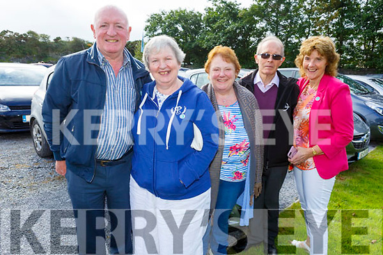 Pat and Hannah O'Sullivan (Scartaglin), Kate and John Brendan Casey (Ballyheigue) and Mary O'Halloran (Ballyheigue) at the Ballyheigue Pattern Day Mass on Sunday.