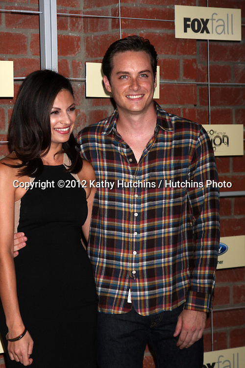 LOS ANGELES - SEP 10:  Floriana Lima, Jesse Lee Soffer arrives at the FOX Eco-Casino Party 2012 at Bookbindery on September 10, 2012 in Culver City, CA