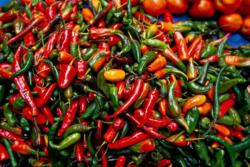 Chiles, Sunday Market, Thimphu, Bhutan