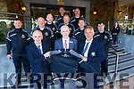 The Kerry Soccer Referees receiving tracksuits from the Rose Hotel<br /> Front l to r: Owen Moynihan (Secretary), Mark O'Sullivan (Rose Hotel) and John Ross (Chairman).<br />  Back l to r:  Anthony Morrisson, Seamus O'Mahony, Tom O'Sullivan, Tom Sheehy, Paddy Osbourne, Brendan Kelly, Denny O'Rourke and Daniel Quirke.