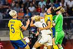 17.07.2017, Rat Verlegh Stadion, Breda, NLD, Breda, UEFA Women's Euro 2017 , <br /> <br /> im Bild | picture shows<br /> Mandy Islacker (Deutschland #9) gegen Jessica Samuelsson (Schweden #15), <br /> <br /> Foto &copy; nordphoto / Rauch