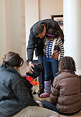 """Washington, DC - April 12, 2009 -- United States President Barack Obama and his family welcome a new puppy named """"Bo"""".  Bo is a gift from United States Senator Edward M. """"Ted"""" Kennedy (Democrat of Massachusetts). .Credit: Pete Souza - White House via CNP"""